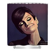 Audrey Hepburn Painting Shower Curtain
