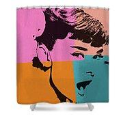 Audrey Hepburn Pop Art 2 Shower Curtain
