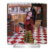 Audrey Horne Twin Peaks Resident Shower Curtain
