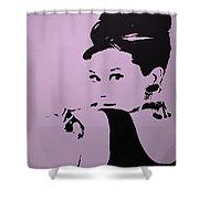 Audrey Pink Shower Curtain