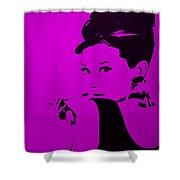 Audrey Purple Shower Curtain