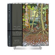 Audubon Forest Hydrology Poster Shower Curtain