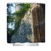 Auerbach Tower And Gate Shower Curtain