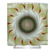 Auger Wheel Spin Shower Curtain
