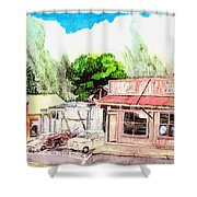 Auggies Pool Hall Shower Curtain