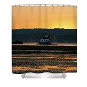 August Dawn At Esopus Light II Shower Curtain