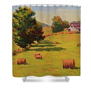 August Hay Field Shower Curtain