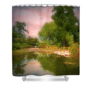 August In The Gardens Shower Curtain
