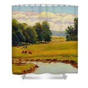 August Pastoral Shower Curtain
