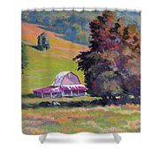 August Pastures Shower Curtain