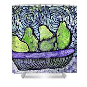 August Pears Shower Curtain