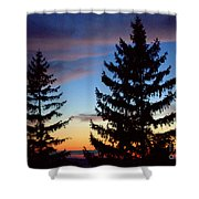 August Pine Clouds Shower Curtain