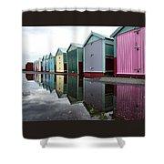 August Rains On The Promenade Shower Curtain