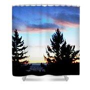 August Shadows Shower Curtain