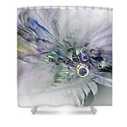 August Silk - Fractal Art Shower Curtain