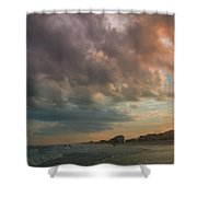 August Skies Over Ocean Isle Beach Shower Curtain