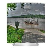Historic Augusta Ferry. Shower Curtain