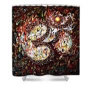Aum - Cosmic Vibrations  Shower Curtain