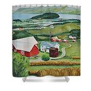 Aune Farm In Selbu Norway Shower Curtain