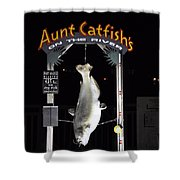 Aunt Catfish Shower Curtain