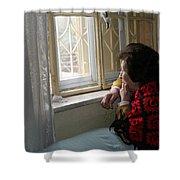 Aunt Leila - Watching Over The Neigbourhood Shower Curtain