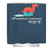 Auntisaurus Rex Shower Curtain