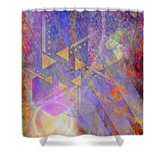 Aurora Aperture Shower Curtain