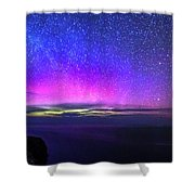 Aurora At Ceide Fields Shower Curtain