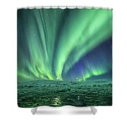 Aurora At Glacier Lagoon Shower Curtain