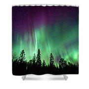 Aurora Boreale In Lapponia Shower Curtain