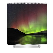 Aurora Borealis Milky Way And Big Shower Curtain