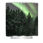 Aurora Borealis Over Finland Shower Curtain