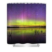 Aurora Borealis Over Lake Sinai Shower Curtain