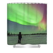 Aurora Borealis With Vega And Arcturus Shower Curtain