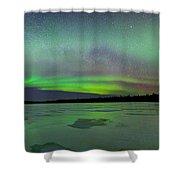 Aurora Bridge Shower Curtain
