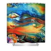 Aurora By Reina Cottier Shower Curtain