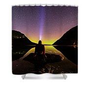 Aurora Chasing Shower Curtain