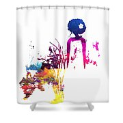 Aurora Flowers Shower Curtain
