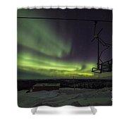 Aurora, Night Sky At Alaska, Fairbanks Shower Curtain