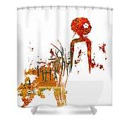 Aurora Orange Shower Curtain