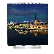 Aurora Over Stockholm In The Fall 2018 Shower Curtain