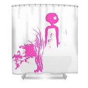 Aurora Pink Shower Curtain