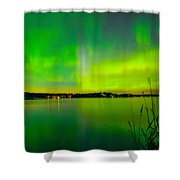 Aurora Reflection Shower Curtain