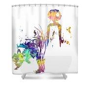Aurora Yellow Shower Curtain