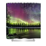 Auroras At The Mill Shower Curtain
