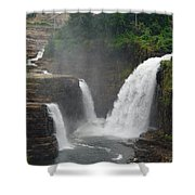 Ausable Chasm Waterfalls Shower Curtain