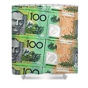 Aussie Dollars 09 Shower Curtain