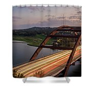 Austin 360 Bridge At Night Shower Curtain
