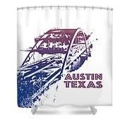 Austin 360 Bridge, Texas Shower Curtain