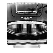 Austin Healey 3000mk II Grille - 0161bw Shower Curtain